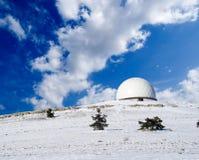 Osservatorio astronomico della montagna fotografia stock