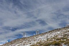 Osservatorio astronomico di Teide Fotografia Stock