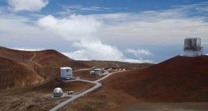 Osservatorio astronomico sul kea di mauna fotografie stock libere da diritti