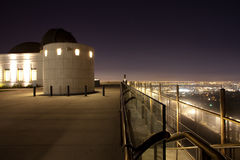 Osservatorio del Griffith alla notte Fotografia Stock Libera da Diritti