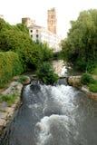 Osservatorio dell'acqua Bacchiglione e della torre a Padova Immagine Stock