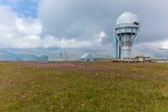 Osservatorio dell'alta montagna Fotografia Stock