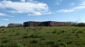 Osservatorio di Birding che costruisce parco naturale immagine stock libera da diritti