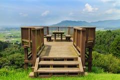 Osservatorio di Haizuka intorno al castello di Kikuchi Fotografia Stock