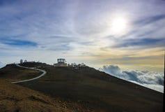 Osservatorio di Haleakala sull'isola di Maui Immagini Stock Libere da Diritti