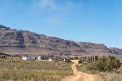 Osservatorio a Dwarsrivier nelle montagne di Cederberg fotografie stock
