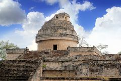 Osservatorio Mayan Chichen Itza Messico di Caracol Fotografia Stock