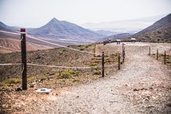 Osservatorio scenico di una valle arida Fotografie Stock