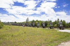 Osservatorio solare in Siberia orientale Immagini Stock Libere da Diritti