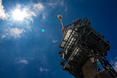 Osservatorio sui titlis con il sole Fotografia Stock Libera da Diritti