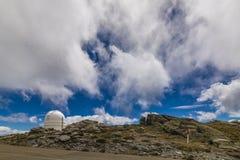 Osservatorio sulla montagna fotografia stock