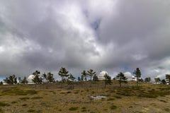 Osservatorio sulla montagna fotografie stock