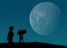 Osservazione del cielo Immagini Stock Libere da Diritti