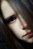 Osservi dall'oscurità Fotografia Stock