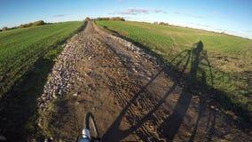 Osservi il colpo dalla bici condotta, 4K stock footage