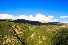 Osservi il paesaggio della regione montagnosa della Galilea superiore Fotografia Stock
