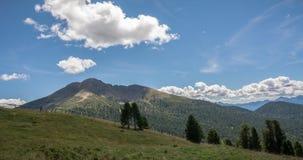 Osservi le montagne un giorno di estate, Tirolo del sud, Schwarzhorn delle dolomia nel passaggio di Oclini, Italia Immagini Stock