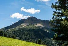 Osservi le montagne un giorno di estate, Tirolo del sud, Schwarzhorn delle dolomia nel passaggio di Oclini, Italia Immagini Stock Libere da Diritti
