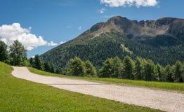 Osservi le montagne un giorno di estate, Tirolo del sud, Schwarzhorn delle dolomia nel passaggio di Oclini, Italia Fotografia Stock Libera da Diritti
