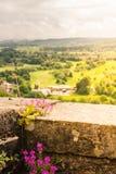Osservi lo sguardo fuori in cima a Stirling Castle fuori al surroundin Immagini Stock