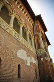 Osservi stile di Brâncovenesc di rinascita di Wallachian dell'architettura del palazzo il vecchio Fotografia Stock Libera da Diritti