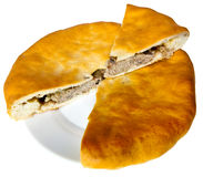 Osset national pie Fyddzhin with meat Stock Photography