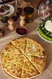 Ossetian baked pie Stock Photos