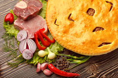 Ossetian pie. Stock Photo