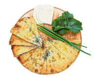 Ossetian pie on a white Royalty Free Stock Images
