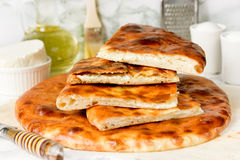 Ossetian pie with cheese Royalty Free Stock Image