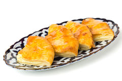 Ossetian Pie with Cheese and Potato Royalty Free Stock Image