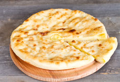 Ossetian pie with cheese and potatoes Royalty Free Stock Image