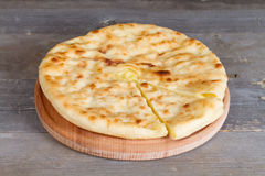 Ossetian pie with cheese and potatoes Royalty Free Stock Photo