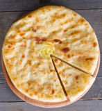 Ossetian pie with cheese and potatoes Stock Images