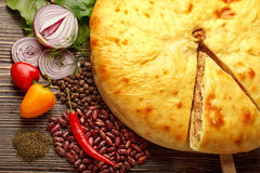 Ossetian pie. Royalty Free Stock Photography