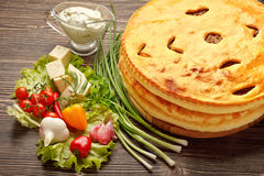 Ossetian pies. Royalty Free Stock Images