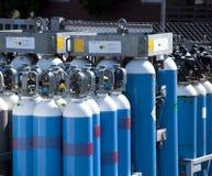 Ossigeno delle bottiglie di gas Fotografia Stock