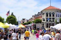Summer street fair, Ossining New York royalty free stock images