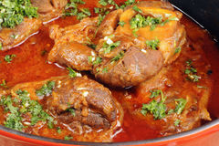 Osso buco with gremolata Royalty Free Stock Photo