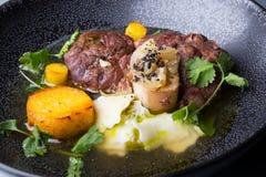 Osso buco italian meat dish Stock Image