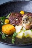 Osso buco italian meat dish Royalty Free Stock Image