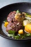 Osso buco italian meat dish Stock Photography