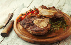 Osso buco roasted with thyme with white wine Royalty Free Stock Image