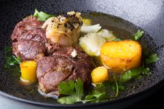 Osso buco italian meat dish Stock Images