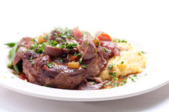 Osso buco veal shank Stock Images