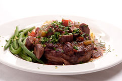 Osso buco veal shank. Braised veal shank, osso buco or bucco homemade Stock Images