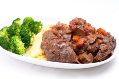 Osso buco veal shank Stock Photos