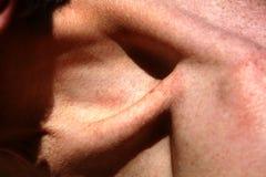 Osso della clavicola hymn Clavicola di gonfiamento Fotografia Stock