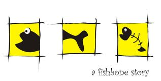 Osso di pesci Fotografia Stock Libera da Diritti