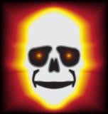 Osso Halloween del fuoco Immagini Stock Libere da Diritti